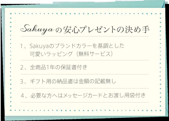 sakuyaの安心プレゼントの決め手