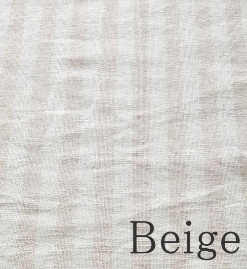 ベージュ-ストライプ柄のオーダーカーテン-River(リバー)