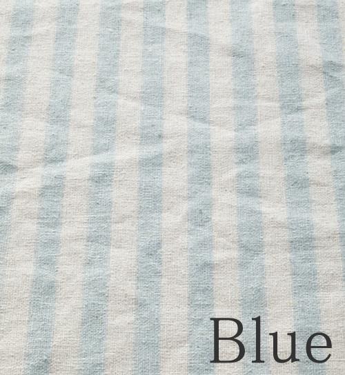 ブルー-ストライプ柄のオーダーカーテン-River(リバー)