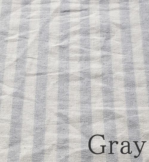 グレー-ストライプ柄のオーダーカーテン-River(リバー)