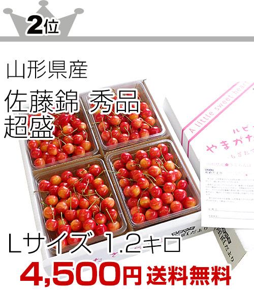 2位 佐藤錦L1.2キロ