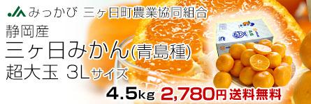 みっかびみかん3L4.5kg