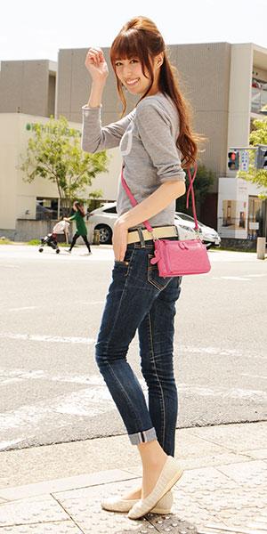 斜めがけ 本革 ポシェット ウォレットバッグ 財布バッグ ミニバッグ オーストリッチ