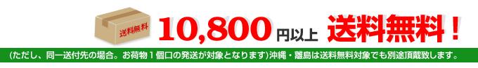 10,800円以上お買い上げのお客様、送料無料!(ただし、同一送付先の場合。お荷物1個口の発送が対象となります)沖縄・離島は送料無料対象でも700円追加で頂戴致します。