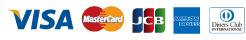 VISA/MasterCard/JCB/Amex/Diners