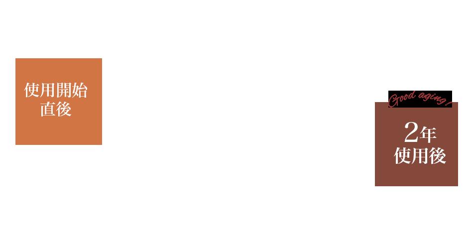 CORBO.(コルボ)キーケース 8LC-9376 ブラウン 右:2年間使用