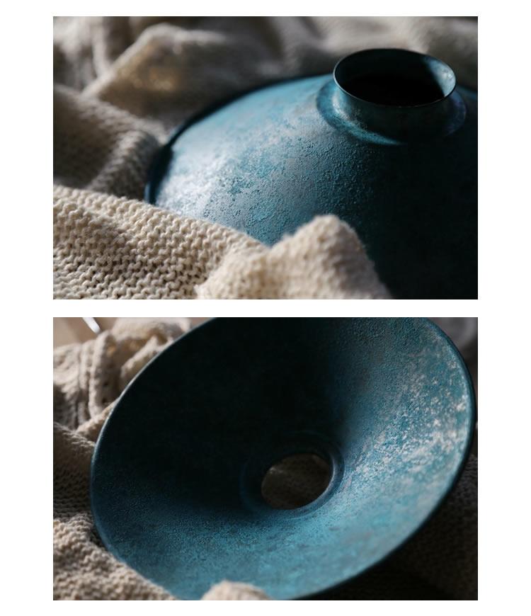 KASA~KIOKU~青(斑紋ガス青銅色・引掛・真鍮黒染)