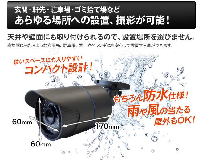 屋外設置可能 防水 コンパクト