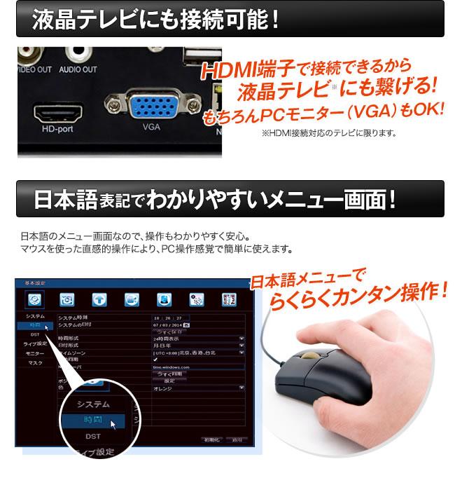 HDMI接続で液晶テレビにも対応