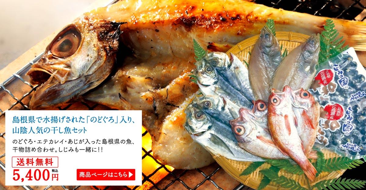島根県で水揚げされた「のどぐろ」入り、山陰人気の干し魚セット