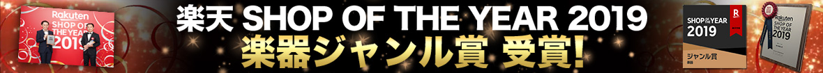 SHOP OF THE YEAR 2019 楽器ジャンル賞受賞!