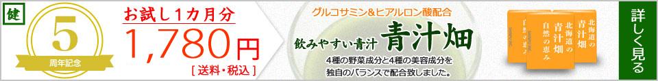 グルコサミン・ヒアルロン酸配合 飲みやすい青汁|青汁畑 4種の野菜成分と4種の美容成分を独自のバランスで配合致しました