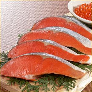 紅鮭半身 切身 10キレ