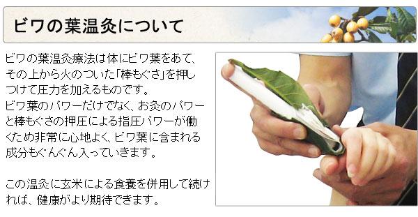 ビワの葉温灸について