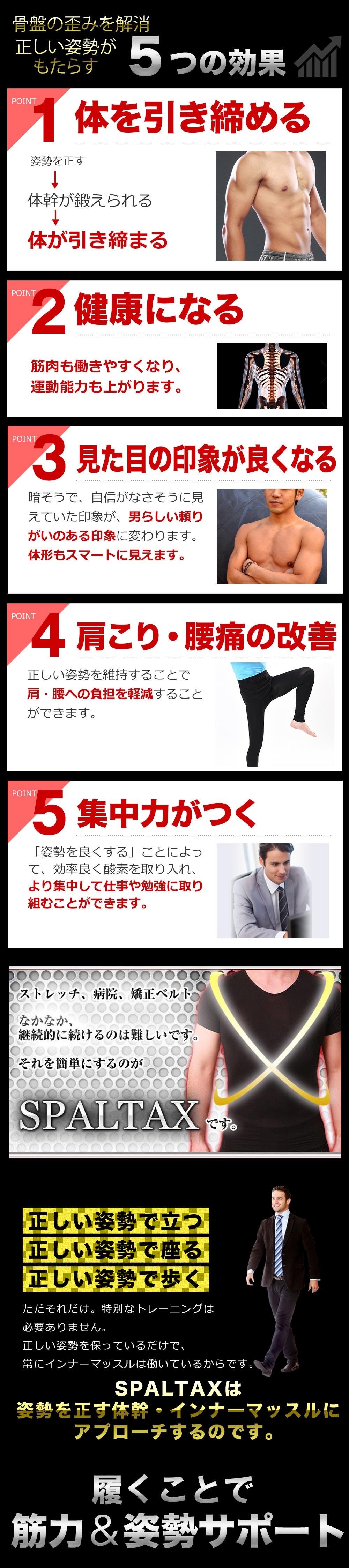 正しい姿勢、体を引き締め健康に、肩こり腰痛の改善、集中力アップ