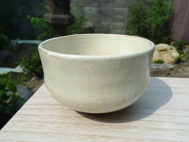 【京焼 清水焼】粉引野点茶碗