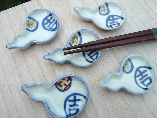 【京焼 清水焼】箸置き 宝小紋 セット