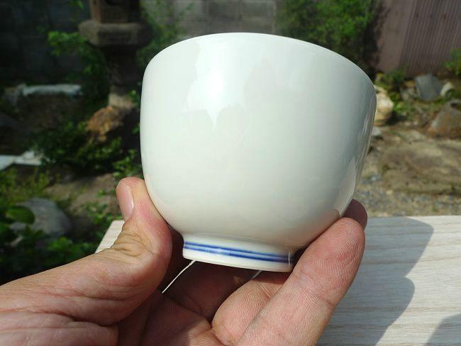 清水焼窯元加古陶峰作染付鳳凰汲出碗