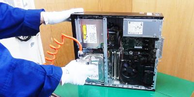 中古パソコンの商品化・クリーニング