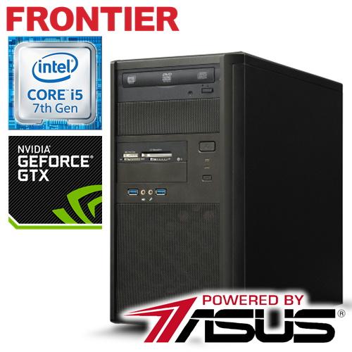 フロンティア デスクトップパソコン [Windows10 Core i5-7400 8GBメモリ 250GB SSD 1TB HDD GeForce GTX1050 2GB] FRGXIH270ML/E3 FRONTIER【新品】S【FR】