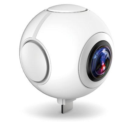全天球ビデオカメラ 720°対応 パノラマビデオカメラ 720C100-W (ホワイト)【FR】