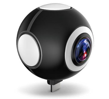 全天球ビデオカメラ 720°対応 パノラマビデオカメラ 720C100-B (ブラック)【FR】