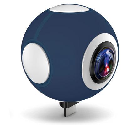 全天球ビデオカメラ 720°対応 パノラマビデオカメラ 720C100-L (ブルー)【FR】