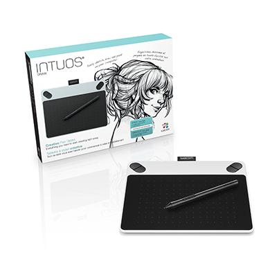【送料無料】ワコム WACOM ペンタブレット ホワイト CTL-490 W0 Intuos Draw small(CTL490W0)【FR】