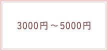 3000円〜5000円