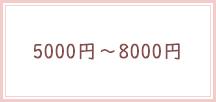 5000円〜8000円