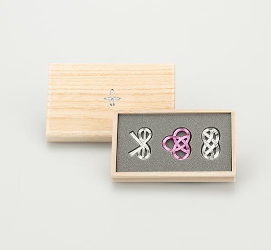 箸置-結び 3ヶ入 桜