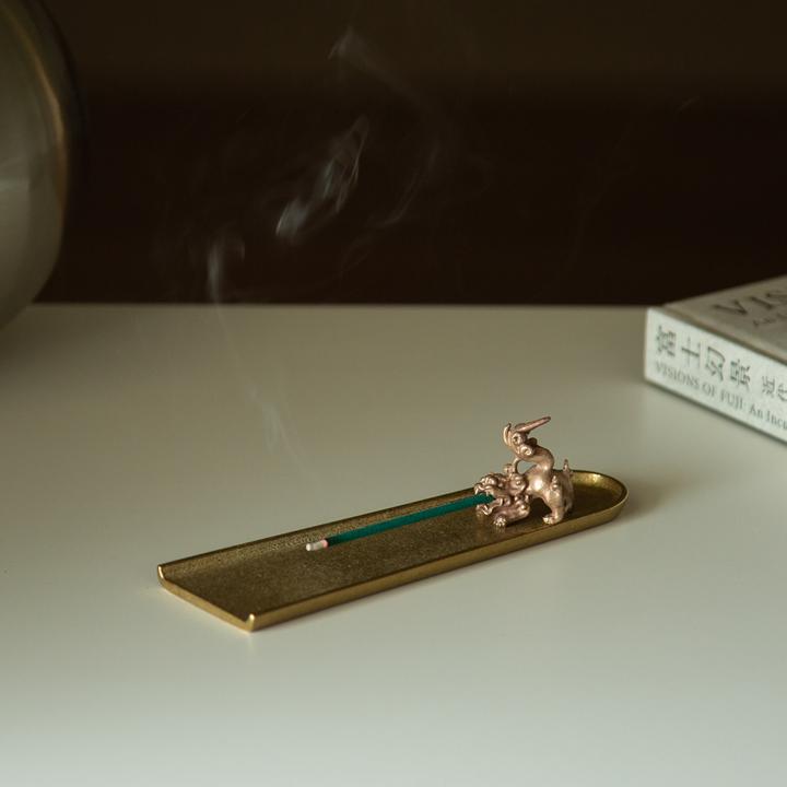 香の器 お香セット-獅子