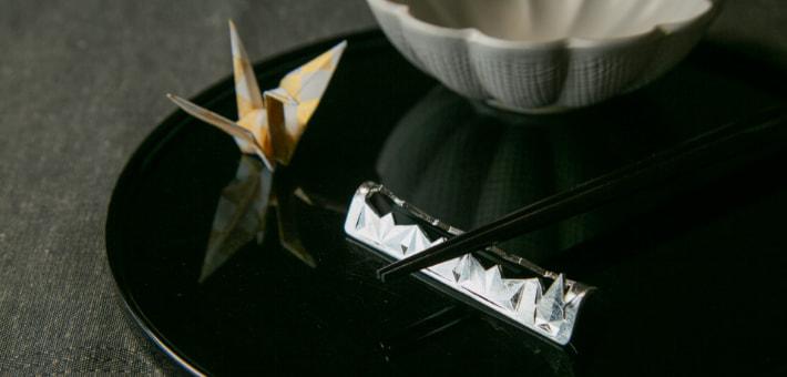 カトラリーレスト – 折鶴