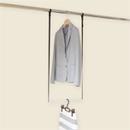 洋服の選びやすさ&収納効率UP*簡単に2段バーができるクローゼットブランコW40