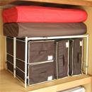 押入れの収納効率UP!*縦横伸縮整理棚 2台セット