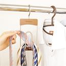 選ぶのも戻すのも片手でOKのネクタイ収納*スマートネクタイハンガー