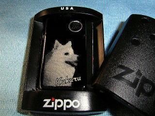 ペットの彫刻入りライター