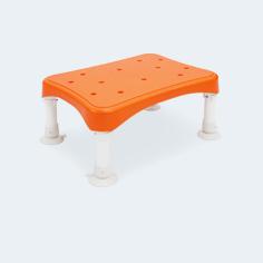お風呂椅子 アルミ製 吸盤付き 浴槽内使用可能 高さ調節 3段階 軽量 入浴介助 シャワーチェア