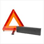 風で飛びにくい!エマーソン 三角停止表示板 EM−351 【…マケの軍手つき】