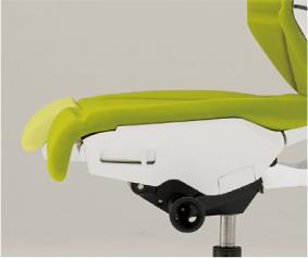 フリップフラップ チェア flip flap ハイバック 可動肘付 ハンガーなし 樹脂脚 特徴