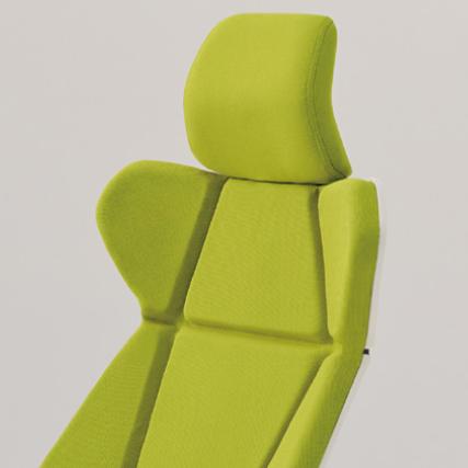 フリップフラップ チェア flip flap エクストラハイバック 可動肘付 ハンガー付 アルミ脚 特徴