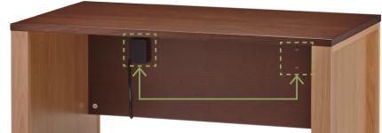 天然木 書斎机 トレフ デスク 幅120cm YTF-D126 特徴