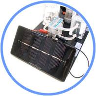 太陽光発電による水の電気分解