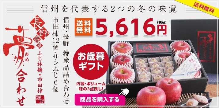 市田柿とりんごのセット「夢合わせ」