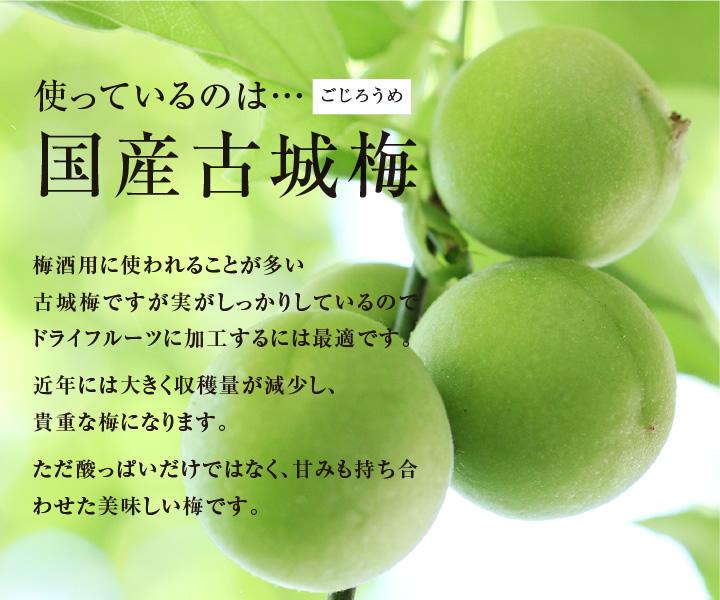 国産ドライフルーツ古城梅・うめ・ウメ