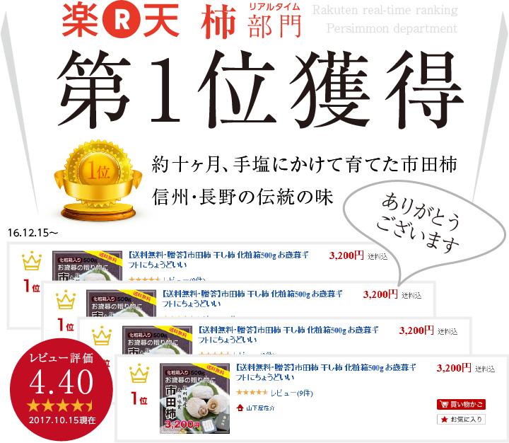 ギフト用市田柿化粧箱500g