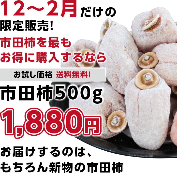 12月〜2月までの限定販売!市田柿(干し柿) 500g 送料無料