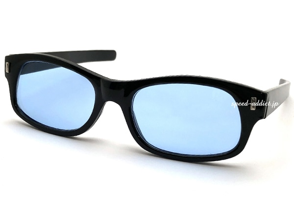 STRAIGHT TEMPLE BIKER SHADE BLACK × LIGHT BLUE