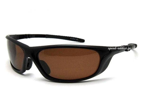POLARIZED SPORT SUNGLASS 艶消しBLACK × BROWN偏光