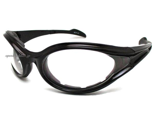 BIKER SHADE URETHAN PAD WIND GUARD BLACK × CLEAR